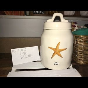 Rae Dunn Canister with Starfish